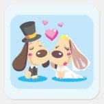 Pares casados del perro etiquetas