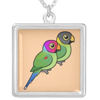 pares Ciruelo-dirigidos del Parakeet Collar Personalizado