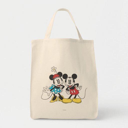 Pares clásicos de Mickey y de Minnie el | Bolsa Tela Para La Compra