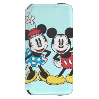 Pares clásicos de Mickey y de Minnie el   Funda Billetera Para iPhone 6 Watson