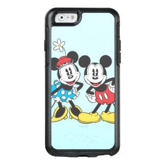 Pares clásicos de Mickey y de Minnie el   Funda Otterbox Para iPhone 6/6s