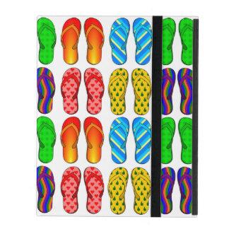 Pares coloridos de modelo de las sandalias del iPad fundas