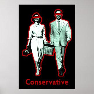 Pares conservadores felices póster