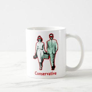 Pares conservadores felices tazas de café