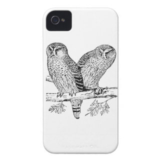 Pares de búhos iPhone 4 Case-Mate cobertura