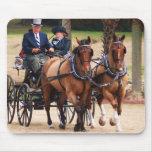 pares de caballos que tiran del carro tapete de raton