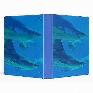 Pares de carpeta de los tiburones