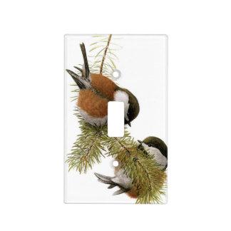 Pares de Chickadee Castaña-apoyado en árbol de Cubierta Para Interruptor