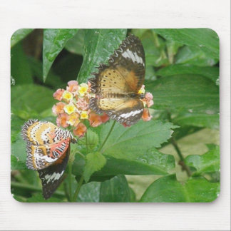 Pares de cojín de ratón de las mariposas alfombrilla de raton