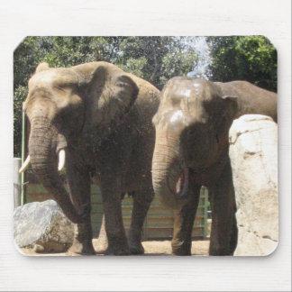 Pares de cojín de ratón de los elefantes tapetes de ratón