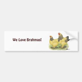 Pares de color de ante de Brahma Pegatina Para Auto