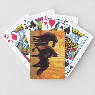 Pares de cubierta de los caballos baraja de cartas bicycle