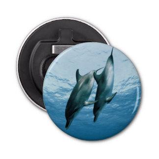 Pares de delfínes abrebotellas redondo