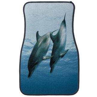 Pares de delfínes alfombrilla de coche