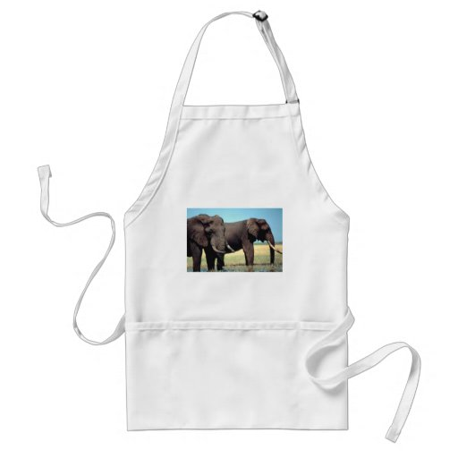 Pares de elefantes delantal