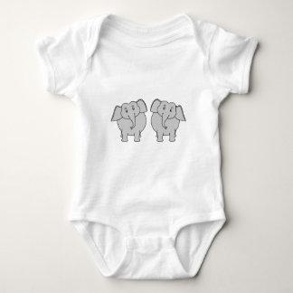 Pares de elefantes lindos. Pares Remeras