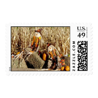 Pares de espantapájaros sellos postales