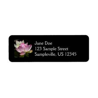 Pares de etiqueta del remite de las flores de etiqueta de remitente