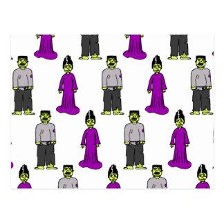 Pares de Frankenstein Tarjeta Postal