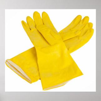 Pares de guantes del látex