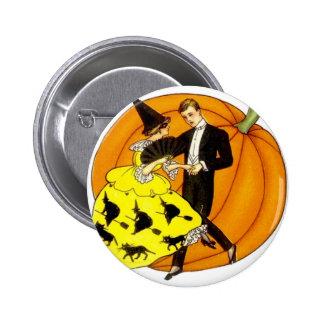 Pares de Halloween del baile Pin Redondo De 2 Pulgadas