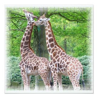 Pares de invitación de las jirafas