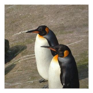Pares de invitación de los pingüinos invitación 13,3 cm x 13,3cm