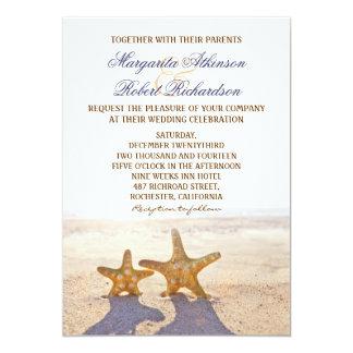 """pares de invitaciones del boda de playa de las invitación 5"""" x 7"""""""