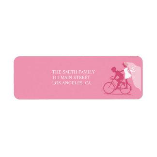 Pares de la bicicleta de la madreselva que casan e etiquetas de remite