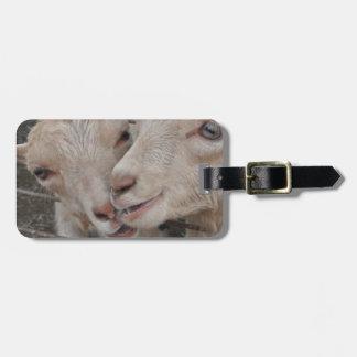 Pares de la cabra etiqueta para equipaje