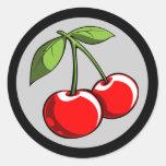 Pares de la cereza etiqueta redonda