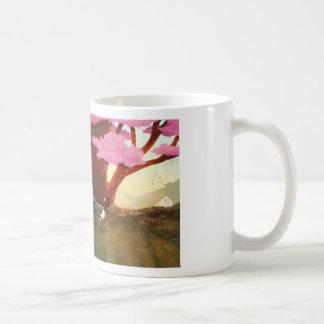 """Pares de la flor de cerezo - """"haciendo girar """" tazas de café"""