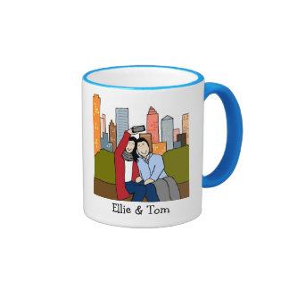 Pares de la foto - colores de encargo taza de café