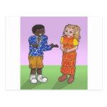 Pares de la galería de arte del animado tarjeta postal