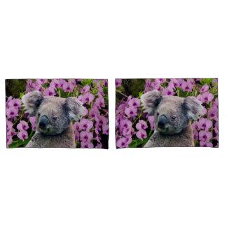 Pares de la koala de fundas de almohada del tamaño funda de cojín