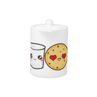 Pares de la leche y de las galletas