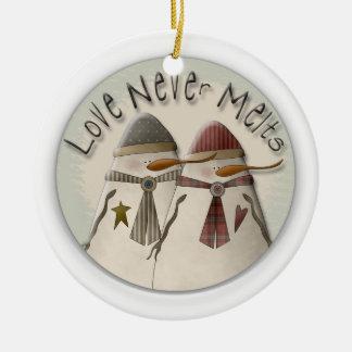 Pares de la nieve ornaments para arbol de navidad