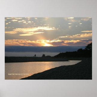 Pares de la puesta del sol de Carmel Póster