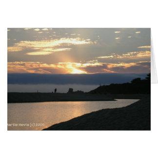 Pares de la puesta del sol de Carmel Tarjeta Pequeña