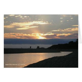 Pares de la puesta del sol de Carmel Tarjeta De Felicitación