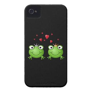 Pares de la rana con los corazones iPhone 4 cárcasas