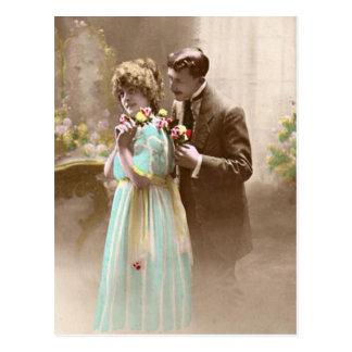 Pares de la tarjeta del día de San Valentín Tarjeta Postal