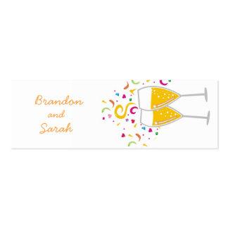 pares de la tostada 311-Champagne/etiqueta Tarjetas De Visita Mini