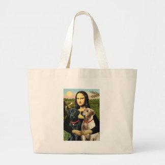 Pares de Labrador (B+Y) - Mona Lisa Bolsa Tela Grande