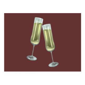 Pares de las flautas de champán postal