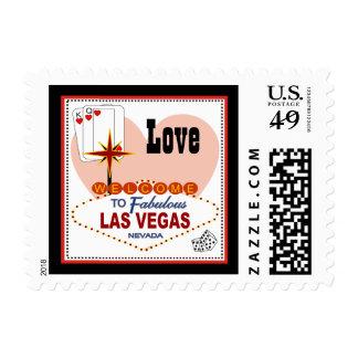 Pares de Las Vegas de franqueo del amor de los cor