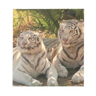 Pares de libreta blanca de los tigres bloc de papel