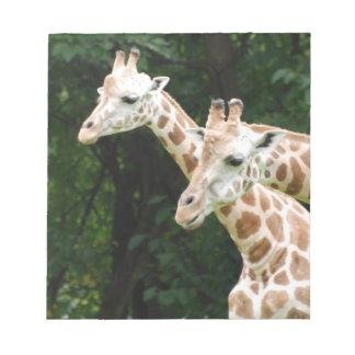 Pares de libreta de las jirafas libretas para notas