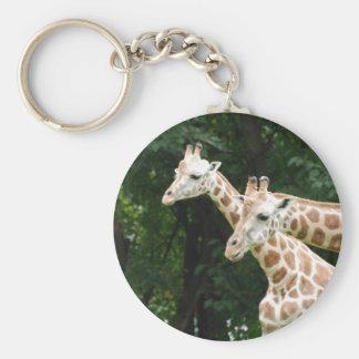 Pares de llavero de las jirafas