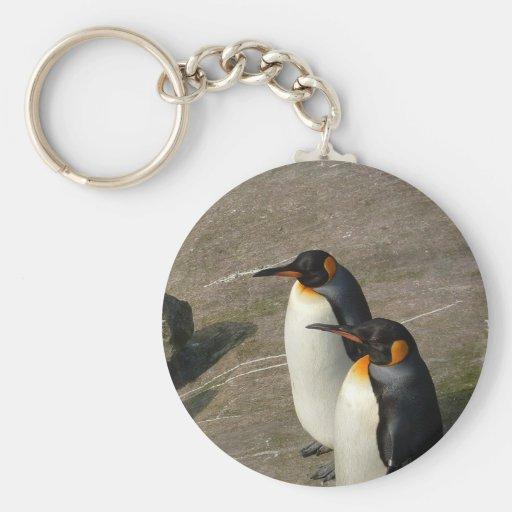 Pares de llavero de los pingüinos